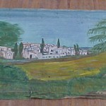 17. Greek Town, ukn painter c 1970's --in storage
