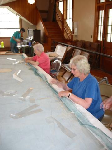 Vols Marge Holt & Ginny Chamberlin stitching stabiltex