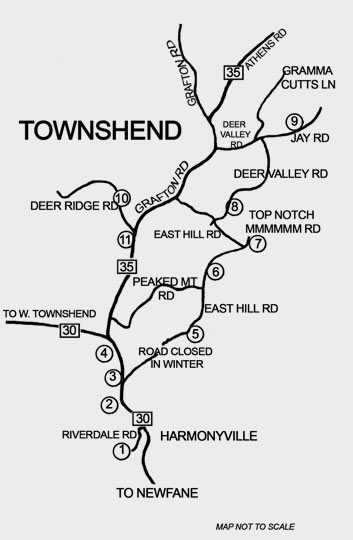 Townshend Barn Tour map