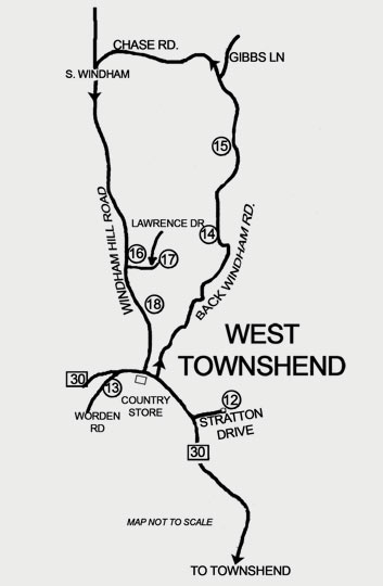 West Townshend Barn Tour map