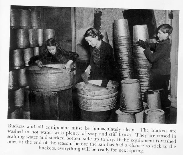 Sugaring - Washing Buckets