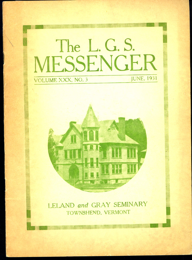 The Messenger cover - 1931
