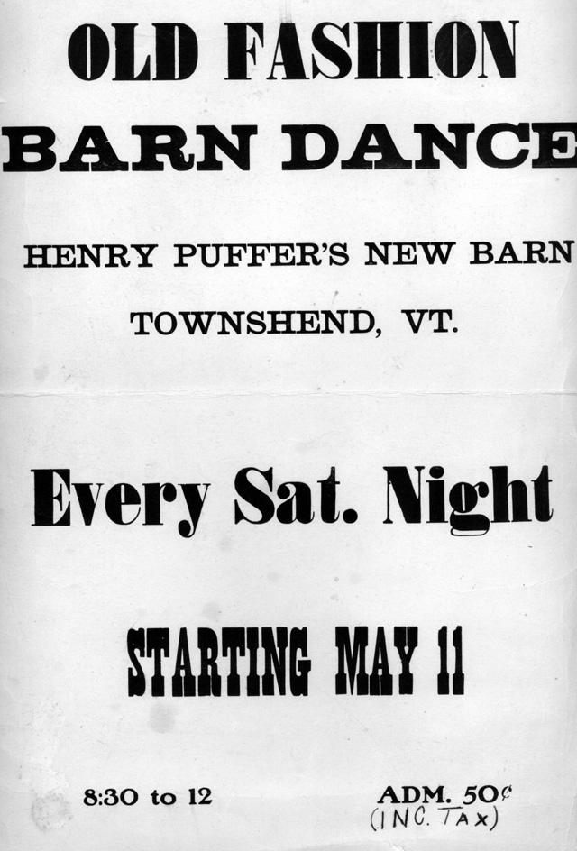 Barn Dance Poster - 1950s