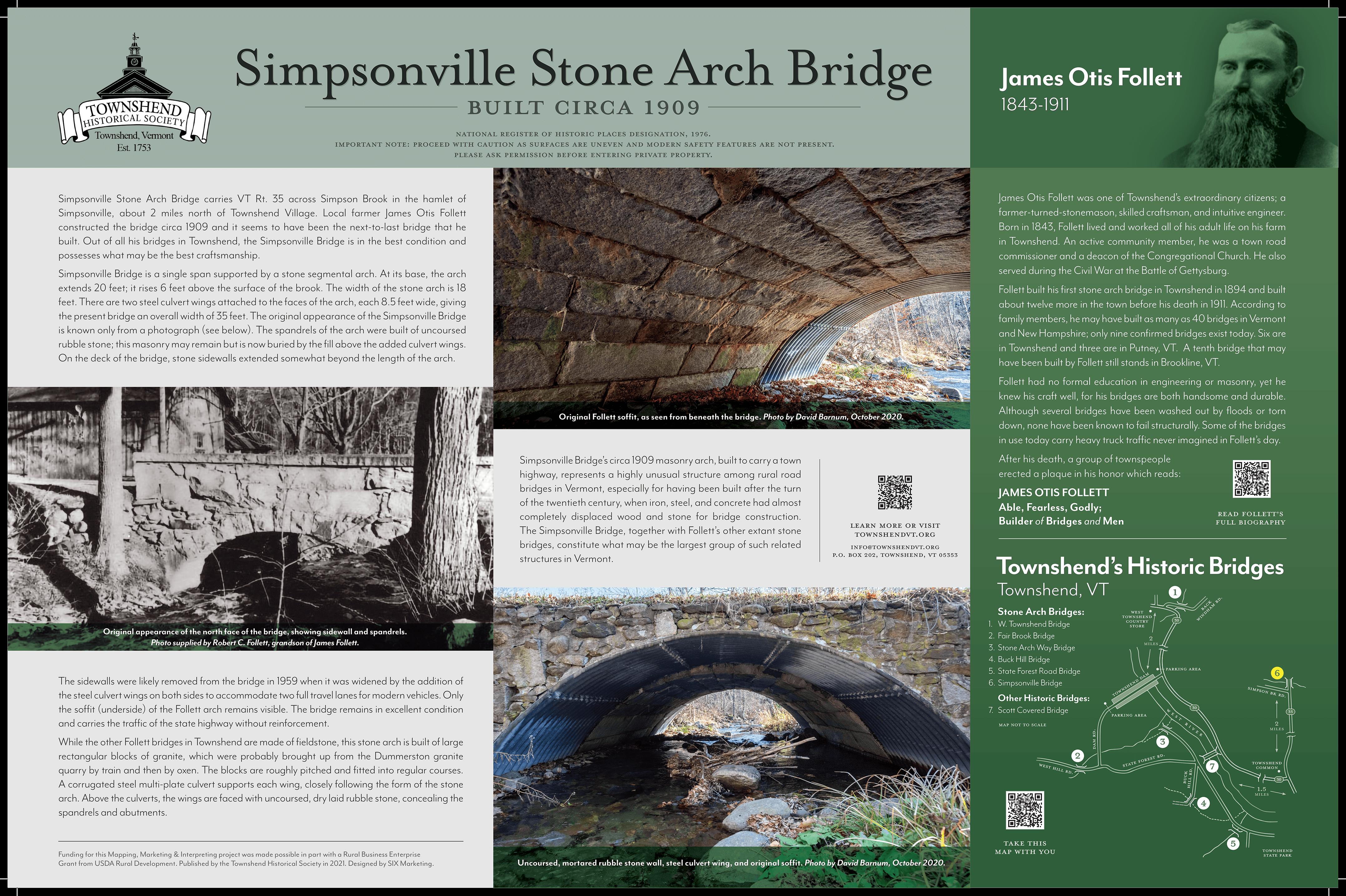 simpsonville stone arch bridge