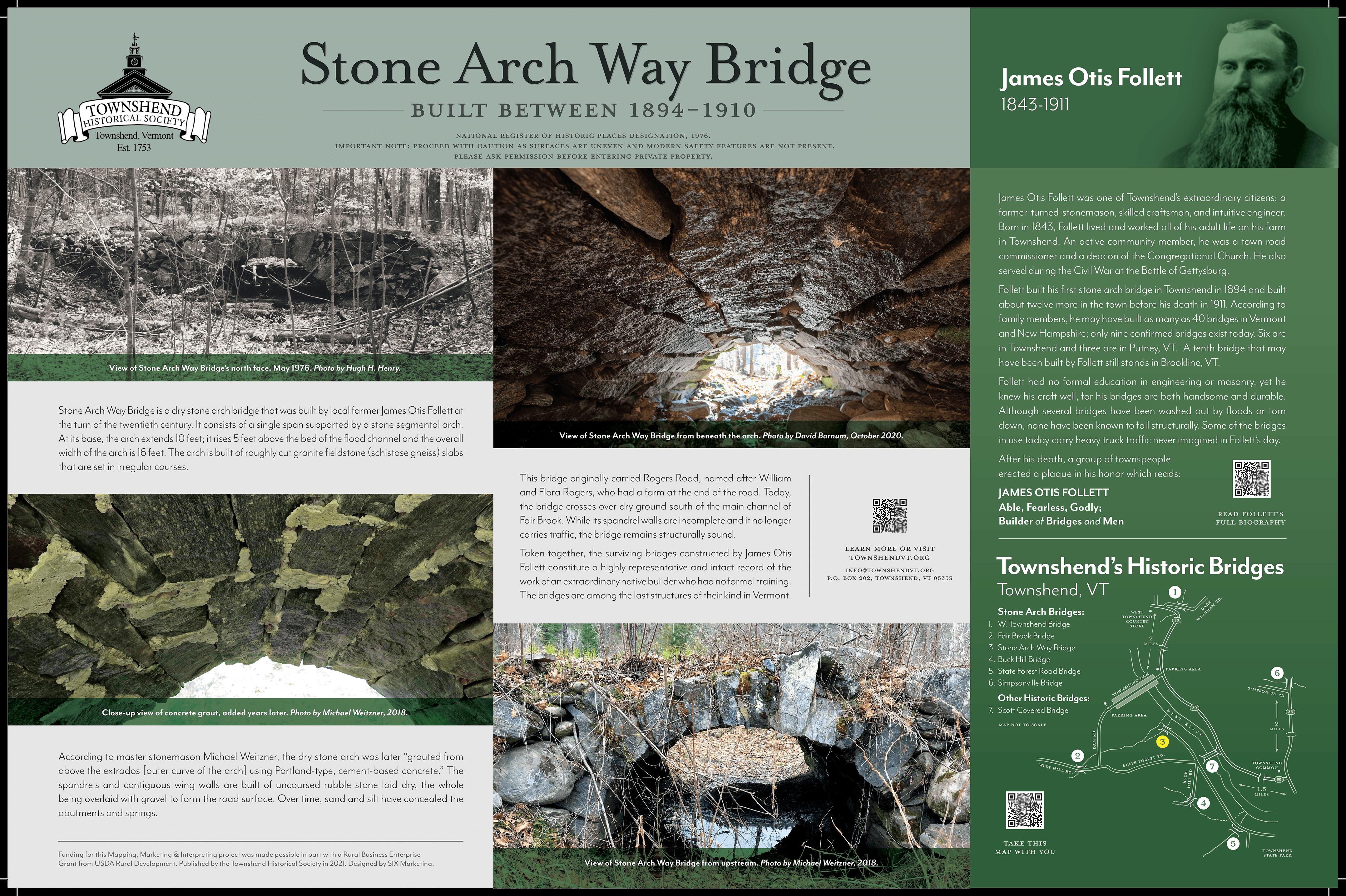 stone arch way bridge